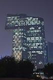 CCTV Headquartes en la noche, Pekín, China Fotos de archivo libres de regalías