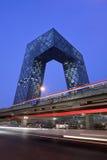 CCTV Headquartes na noite, Pequim, China Imagens de Stock Royalty Free