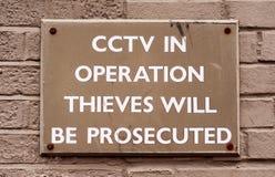 CCTV i funktionstecken Arkivfoto