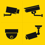 CCTV icons set Stock Image