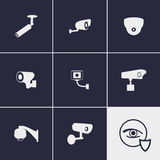 CCTV Icons. Set of icons on a theme CCTV Stock Images
