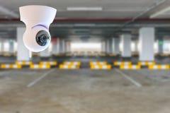 CCTV im Parkplatz des Gebäudes lizenzfreie stockbilder
