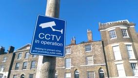 CCTV in UK. Information sing CCTV in United Kingdom royalty free stock photos