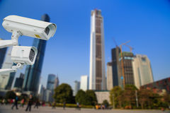 CCTV and infrared lamp for park Stock Photography