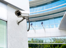 Cctv installed outdoor to protect security Stock Images