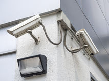 Cctv installed outdoor to protect security Royalty Free Stock Photo