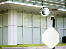 Cctv installed on the pole in outdoor security Stock Images