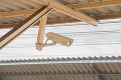 CCTV. Installed in the station Stock Images