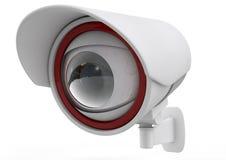 CCTV kamera bezpieczeństwa na białym tle. 3d royalty ilustracja
