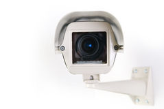 Cctv-kamera i hus Royaltyfri Bild
