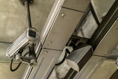 CCTV kamera i społeczeństwo głośnik Obraz Royalty Free