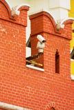 CCTV kamera na ścianie Moskwa Kremlin fotografia stock