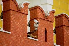 CCTV kamera na ścianie Moskwa Kremlin obraz royalty free