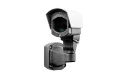 CCTV kamera na białym tle obrazy royalty free