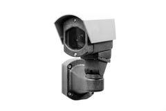 CCTV kamera na białym tle obrazy stock