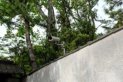 CCTV kamera na popielatej betonowej ścianie CCTV kamera bezpieczeństwa dla domu Zdjęcie Stock