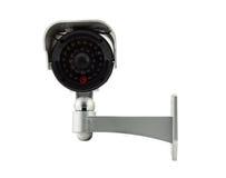 Cctv kamera odizolowywająca na białym tle Obraz Royalty Free