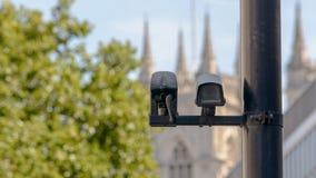 CCTV kamera w Londyn Fotografia Stock