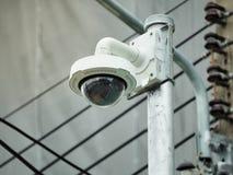 Cctv-kamerasäkerhet i staden arkivbilder
