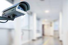 CCTV kamery bezpieczeństwej działanie w szpitalu zdjęcie royalty free