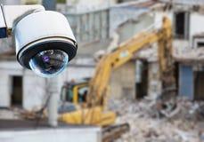 CCTV kamery budowa Obrazy Royalty Free