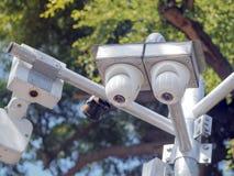 CCTV kamery ochrona w mieście obraz royalty free