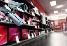 CCTV kamery systemu obserwacji sklep zdjęcie stock