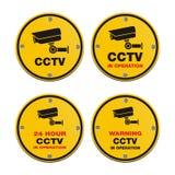 Cctv-Kreiszeichen Lizenzfreies Stockfoto