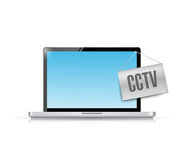 Cctv laptop illustration design Royalty Free Stock Image
