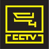 CCTV logo, kamera, wideo inwigilacja royalty ilustracja