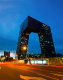 CCTV lokuje przy nocą, Pekin, Chiny Fotografia Royalty Free
