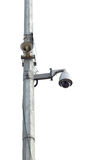 CCTV and loudspeaker system Stock Photos