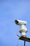 CCTV med blå himmel royaltyfri bild
