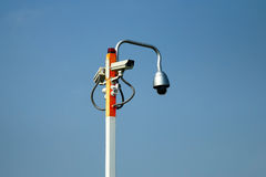 CCTV monitorowanie kamera bezpieczeństwa Obrazy Stock