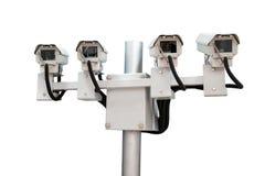 CCTV monitorowanie kamery bezpieczeństwe fotografia royalty free
