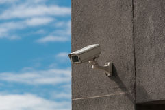 CCTV mounted on the wall Royalty Free Stock Photos
