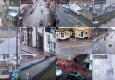 CCTV multiscreen Royalty Free Stock Photos