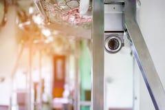 CCTV nel treno Fotografia Stock Libera da Diritti