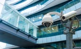 CCTV o cámara de vigilancia Fotografía de archivo libre de regalías