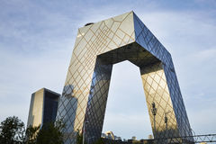 CCTV futuristic building Royalty Free Stock Image