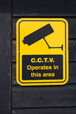 Cctv operates in this area sign Stock Photos