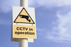 CCTV in operation. A sign informing that CCTV is in operation Stock Image