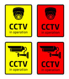 CCTV in operation sign Stock Image