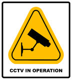 CCTV in Operation sign - Vector format Stock Image