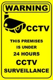 CCTV IN OPERATION WARNING SIGN Stock Photos