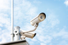 CCTV ou câmara de vigilância Foto de Stock