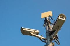 Cctv outdoor with sky Royalty Free Stock Photography