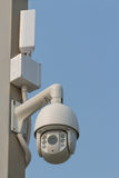 CCTV på polen Arkivfoton