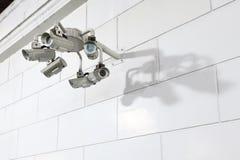 CCTV på utomhus- Arkivbilder