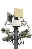 CCTV på vitbakgrund Arkivbild